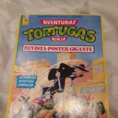 Cómics: COMIC+POSTER AVENTURAS TORTUGAS NINJA N'2, 150PTS. Lote 198484197