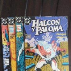Cómics: HALCÓN Y PALOMA - NÚMEROS 1,2,3,Y 4 - DC - EDICIONES ZINCO . Lote 198707057