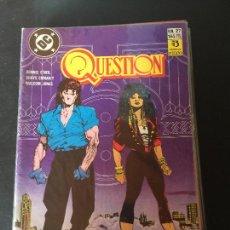 Cómics: ZINCO DC QUESTION NUMERO 27 NORMAL ESTADO. Lote 199046047