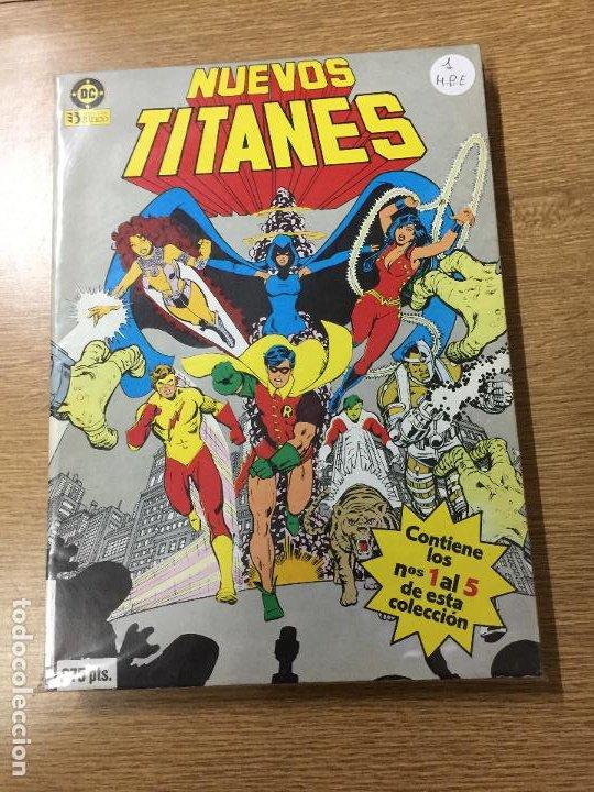 ZINCO DC RETAPADO LOS NUEVOS TITANES NUMEROS DEL 1 AL 5 MUY BUEN ESTADO (Tebeos y Comics - Zinco - Cosa del Pantano)