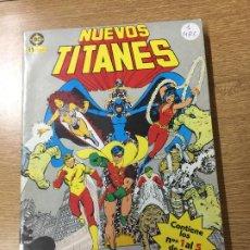 Cómics: ZINCO DC RETAPADO LOS NUEVOS TITANES NUMEROS DEL 1 AL 5 MUY BUEN ESTADO. Lote 199207683