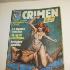 Cómics: CRIMEN Nº 21. LA AMANTE ASESINA. EL REY DE LAS VEGAS.. (SUCESOS REALES) 1983 (ALGÚN DEFECTO). Lote 199670957