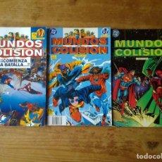 Cómics: MUNDOS EN COLISIÓN COMPLETA (LIBROS 1, 2 Y 3) - ZINCO / DC - RÚSTICA. Lote 200833592