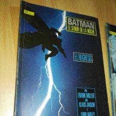 Cómics: BATMAN SEÑOR DE LA NOCHE 1 Y 2 F. MILLER. Lote 201101163
