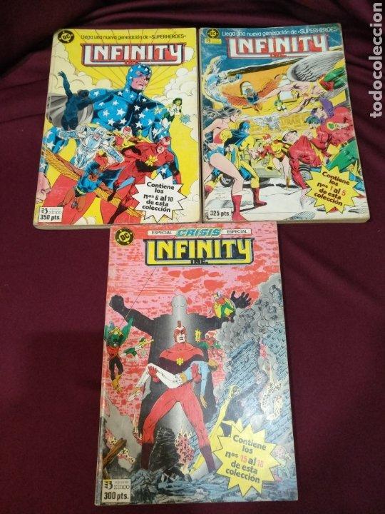 INFINITY, TOMO 1,2 Y 4, DEL NÚMERO 1 AL 10 Y DEL 15 AL 18, ZINCO, DC (Tebeos y Comics - Zinco - Infinity Inc)