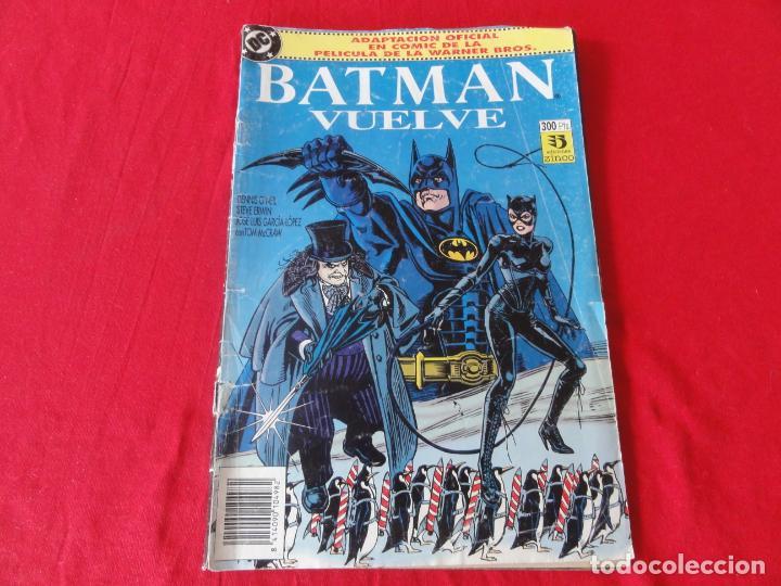 BATMAN VUELVE. FIEL ADAPTACION AL COMIC DEL FILM DE WARNER BROSS. TOMO ZINCO-DC COMICS. 1992. C-42 (Tebeos y Comics - Zinco - Cosa del Pantano)