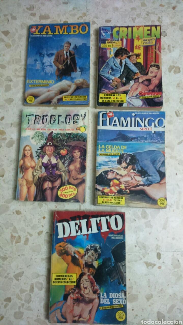 COMIC EROTICO RETAPADOS :DELITO, YAMBO, TROGLOS, FLAMINGO, CRIMEN (Tebeos y Comics - Zinco - Retapados)