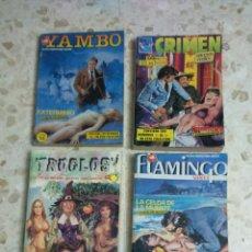Cómics: COMIC EROTICOS RETAPADOS :DELITO, YAMBO, TROGLOS, FLAMINGO, CRIMEN. Lote 203199612