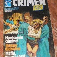 Cómics: CRIMEN - SUCESOS REALES - NUMERO 3. Lote 62423744