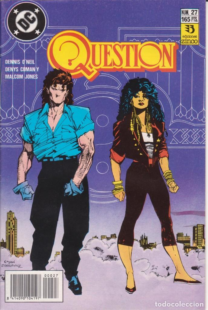CÓMIC ` QUESTION ´ Nº 27 ED. ZINCO FRMTO. U.S.A. 34 PGS. 1989 (Tebeos y Comics - Zinco - Question)