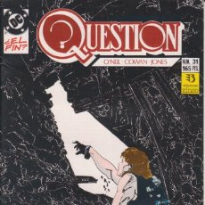 Cómics: CÓMIC ` QUESTION ´ Nº 31 ED. ZINCO FRMTO. U.S.A. 34 PGS. 1989. Lote 203434686