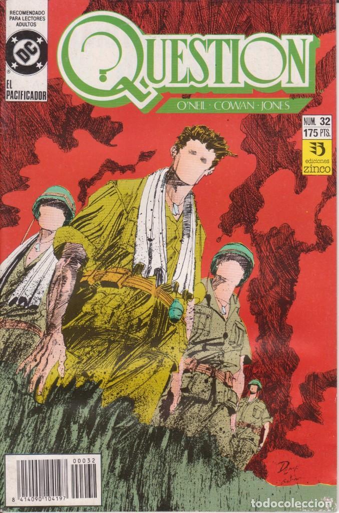 CÓMIC ` QUESTION ´ Nº 32 ED. ZINCO FRMTO. U.S.A. 34 PGS. 1989 (Tebeos y Comics - Zinco - Question)