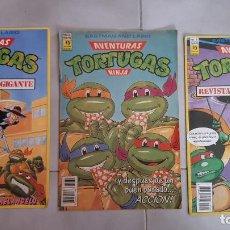 Cómics: LOTE 3 COMICS TEBEO TORTUGAS NINJA EDICIONES ZINCO POSTER Nº2,3 Y Nº 32. Lote 203442602