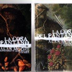 Cómics: LA COSA DEL PANTANO DE ALAN MOORE TOMOS 1 2 3 COMPLETA - ECC DC EDICIÓN DELUXE NUEVOS Y PRECINTADOS. Lote 203726271
