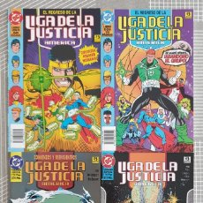 Cómics: LIGA JUSTICIA AMERICA. EL REGRESO DE DAN JURGENS COL.COMPLETA 4 TOMOS ZINCO 1994. Lote 203914547