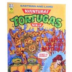 Cómics: AVENTURAS TORTUGAS NINJA 19. APRIL HA SIDO RAPTADA. ZINCO, 1990. OFRT. Lote 262340670
