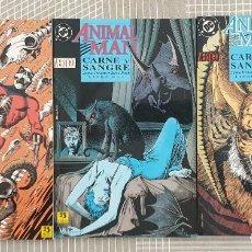 Cómics: ANIMAL MAN. CARNE Y SANGRE DE JAMIE DELANO Y STEVE PUGH. COMPLETA 3 TOMOS. ZINCO. Lote 205258117