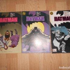 Cómics: BATMAN AÑO I Nº 1, 2, 3. - FRANK MILLER / DAVID MAZZUCCHELLI - DC - ZINCO. Lote 205314198