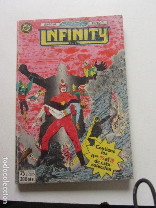 INFINITY INC ESPECIAL CRISIS Nº 15 AL 18 EDICIONES ZINCO AÑO 1986 CX57 (Tebeos y Comics - Zinco - Infinity Inc)