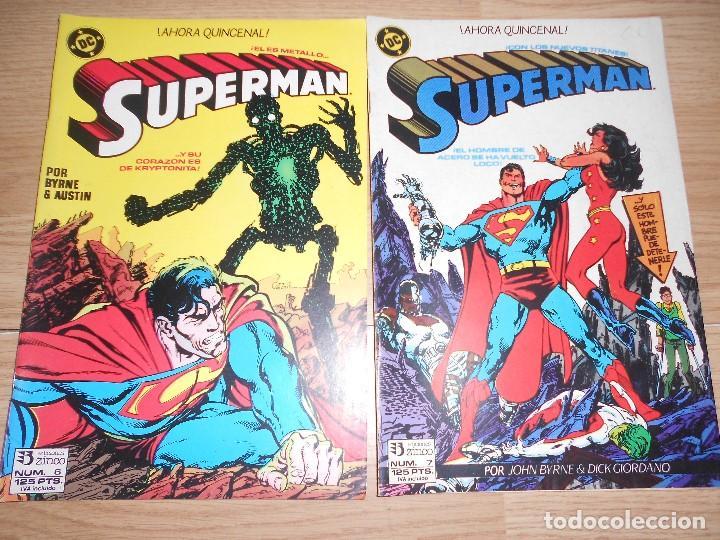 SUPERMAN Nº 6 Y 7 - JOHN BYRNE - DC - ZINCO (Tebeos y Comics - Zinco - Superman)