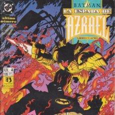 Cómics: CÓMIC ` BATMAN - LA ESPADA DE AZRAEL ´ Nº 4 ED. ZINCO 1993. Lote 205552822
