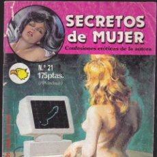 Cómics: SECRETOS DE MUJER - Nº 21- RELATOS PARA ADULTOS - COMIC EROTICO - ED ZINCO S.A -. Lote 205591447