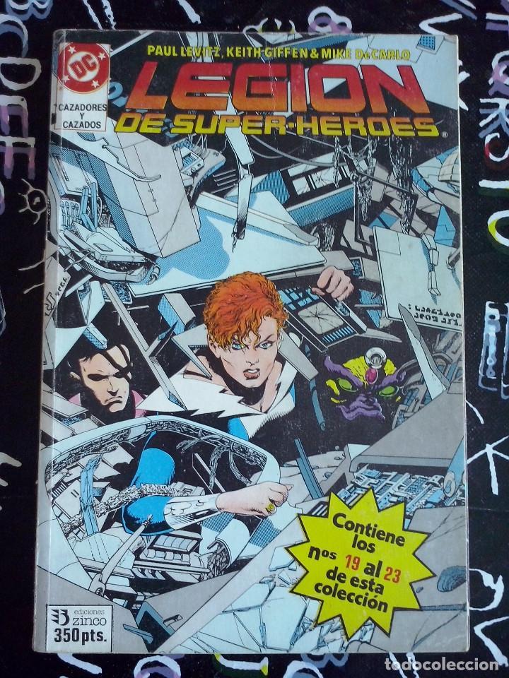 ZINCO - LEGION DE SUPER-HEROES RETAPADO CON LOS NUM. 19 AL 23 (Tebeos y Comics - Zinco - Otros)