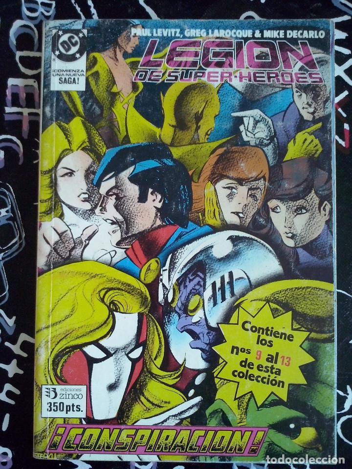 ZINCO - LEGION DE SUPER-HEROES RETAPADO CON LOS NUM. 9 AL 13 . BUEN ESTADO (Tebeos y Comics - Zinco - Otros)