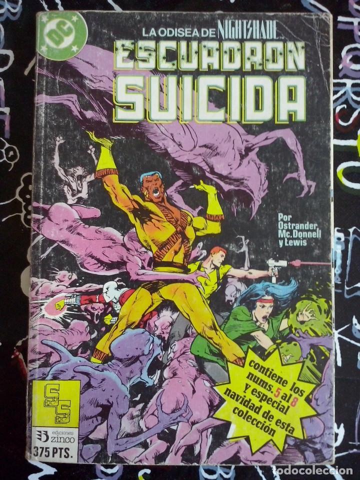 ZINCO - ESCUADRON SUICIDA RETAPADO CON LOS NUM. 5 AL 8 + ESPECIAL NAVIDAD (Tebeos y Comics - Zinco - Otros)