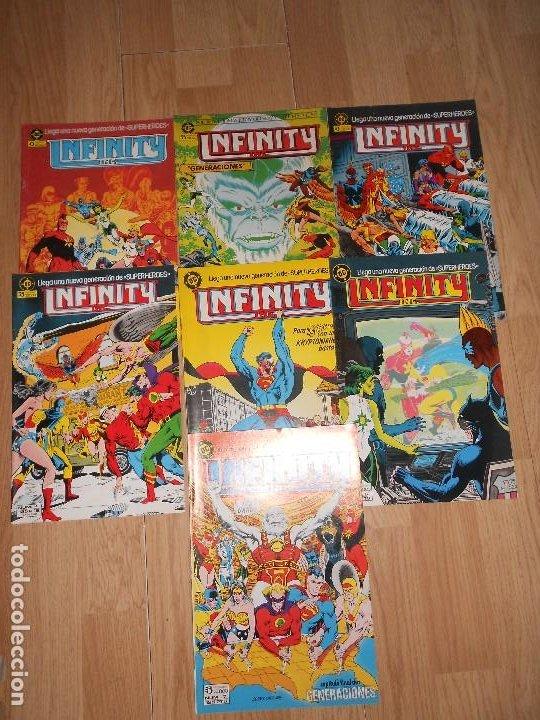 INFINITY INC. LOTE DE 7 NUMEROS DEL Nº 1 AL Nº 7 - DC - ZINCO (Tebeos y Comics - Zinco - Infinity Inc)