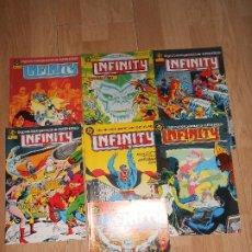 Comics: INFINITY INC. LOTE DE 7 NUMEROS DEL Nº 1 AL Nº 7 - DC - ZINCO. Lote 205842888