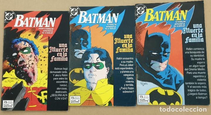 BATMAN UNA MUERTE EN LA FAMILIA COMPLETA 1 2 3 ZINCO (Tebeos y Comics - Zinco - Batman)