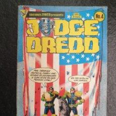 Cómics: JUEZ DREDD Nº 4. ZINCO. JUEZ DREDD PONE ORDEN EN... LA TIERRA CONDENADA. SEGUNDA PARTE.. Lote 207199952