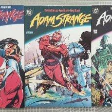 Cómics: ADAM STRANGE DE ANDY Y ADAM KUBERT. COLECCIÓN COMPLETA DE 3 TOMOS. ZINCO 1991. Lote 207201132