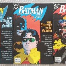 Cómics: BATMAN. UNA MUERTE EN LA FAMILIA DE JIM STARLIN. S.LIMITADA 3 COMICS. ZINCO 1990. Lote 207275148