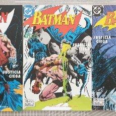 Cómics: BATMAN. JUSTICIA CIEGA. SERIE LIMITADA DE 3 COMICS. ZINCO 1989. Lote 207276807