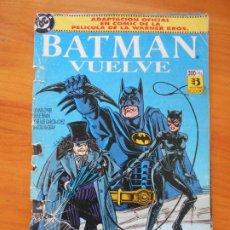 Comics: BATMAN VUELVE - ADAPTACION OFICIAL EN COMIC DE LA PELICULA - DC - ZINCO - LEER DESCRIPCION (9M). Lote 207715016