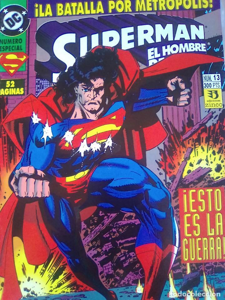 SUPERMAN EL HOMBRE DE ACERO 13 / PILA 2 (Tebeos y Comics - Zinco - Retapados)