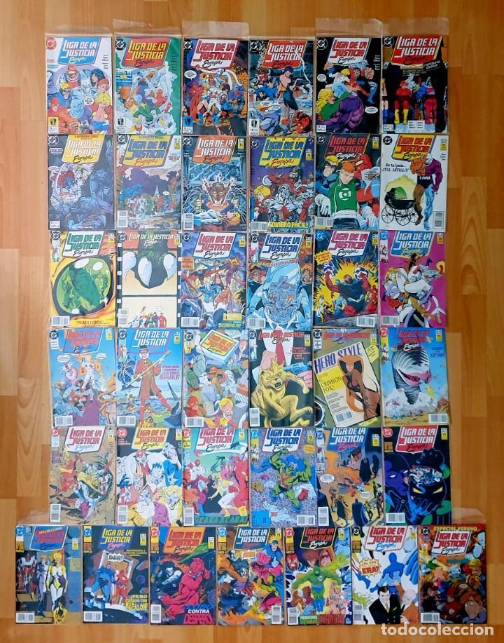 LIGA DE LA JUSTICIA EUROPA DE KEITH GIFFEN COMPLETA 36 COMICS + ESP. ZINCO 1989 (Tebeos y Comics - Zinco - Liga de la Justicia)