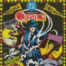 Cómics: QUESTION Nº 20. DENNIS O´NEIL.EDICIONES ZINCO. AÑO 1988. Lote 208072500