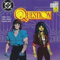 Cómics: QUESTION Nº 27. DENNIS O´NEIL.EDICIONES ZINCO. AÑO 1988. Lote 208072900