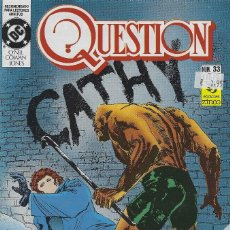 Cómics: QUESTION Nº 33. DENNIS O´NEIL.EDICIONES ZINCO. AÑO 1988. Lote 208073200