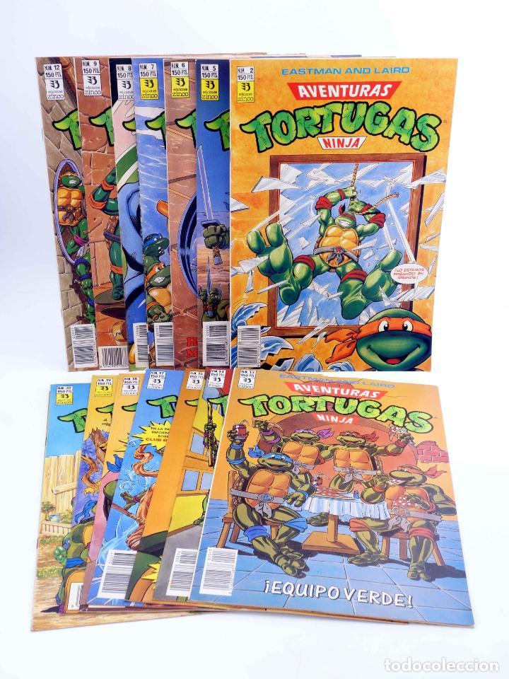 AVENTURAS TORTUGAS NINJA LOTE DE 14 NÚMEROS. VER LISTA (VVAA) ZINCO, 1990. OFRT (Tebeos y Comics - Zinco - Otros)