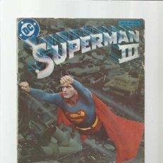 Fumetti: SUPERMAN III, FIEL ADAPTACIÓN DEL FILM, ZINCO, SEÑALES DE USO. Lote 208331761
