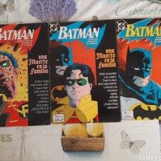 Cómics: BATMAN UNA MUERTE EN FAMILIA COMPLETA 3 VOLÚMENES. Lote 209277617