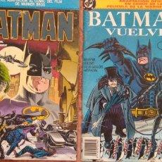 Cómics: BATMAN Y BATMAN VUELVE. Lote 210675541