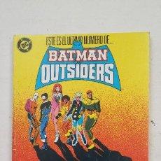 Cómics: BATMAN Y LOS OUTSIDERS. RETAPADO CON LOS NUMEROS Nº - 21 - 22 - 23 - 24 - EDICIONES ZINCO. TDKC67. Lote 210768390