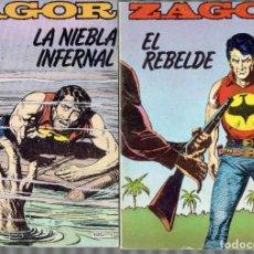 Cómics: 3 COMICS ZAGOR N, 5,6,8. EDICIONES ZINCO S.A.AÑO 1982 LA NIEBLA INFERNAL - EL REBELDE. Lote 211004682