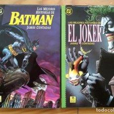 Cómics: LAS MEJORES HISTORIAS DE BATMAN Y EL JOKER JAMÁS CONTADAS. Lote 211580567