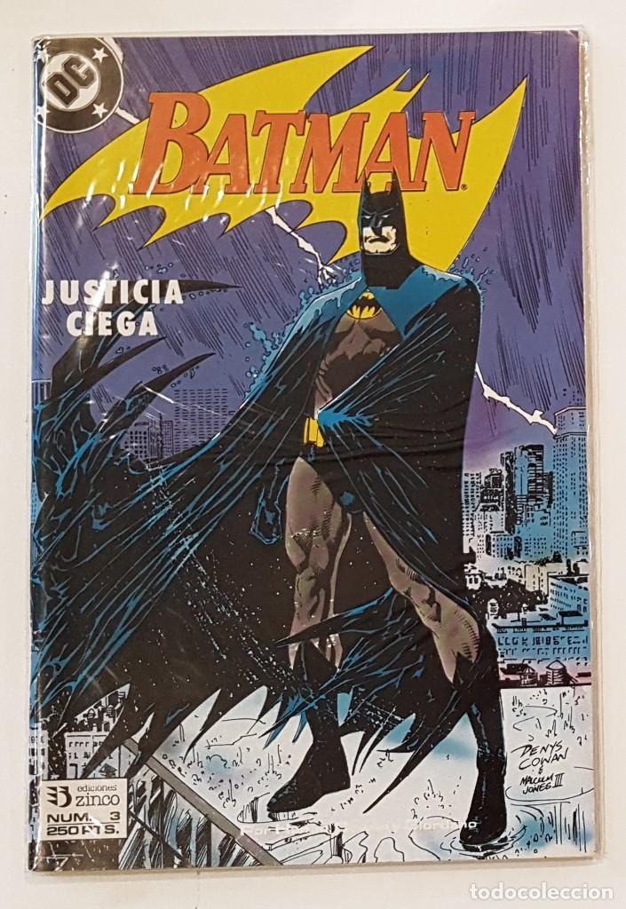 BATMAN - Nº 3 - JUSTICIA CIEGA - V.2 - EDICIONES ZINCO - IMPECABLE (Tebeos y Comics - Zinco - Batman)